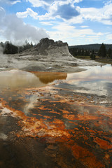 Castle Geyser, Yellowstone National Park in Wyoming