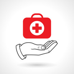 First Aid Kit Icon, Health Concept Vector