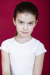 Studio portrait of a pretty little girl