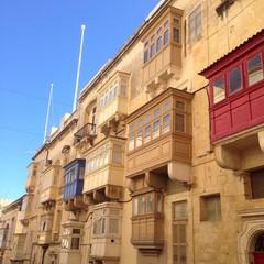 façade maltaise à La Valette