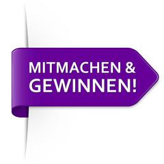 Langer purpurner Sticker Pfeil - Mitmachen & Gewinnen!