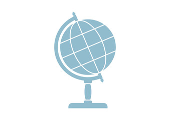 Globe vector icon on white background