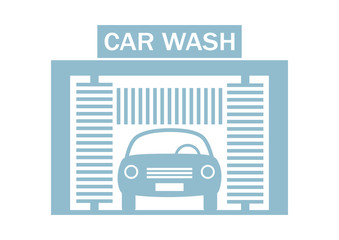 Car wash icon on white background