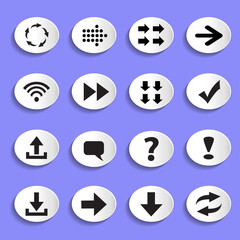 Set of Arrows on Buttons