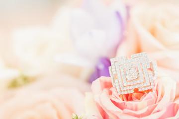 ring on rose