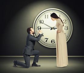 woman staring at latecomer