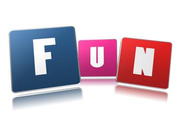 Fun word in 3D boxes