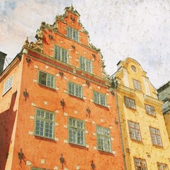 Stockholm retro. Filtered style.