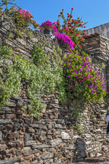 Portugal, Monsaraz . Medieval walls of buildings and fences