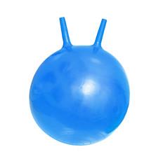 Bright blue fitballs, ball-kangaroo on white background