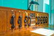 Leinwanddruck Bild - Historische Telekommunikationsanlage