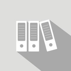 Icono archivadores informal gris sombra
