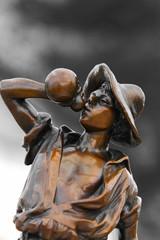 Jugendstil Bronze Junge