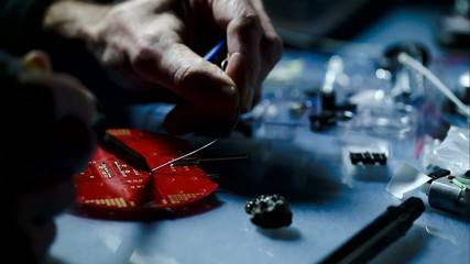 installation of electronic components on