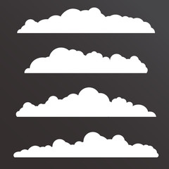Collection of Various clouds with a big long shape