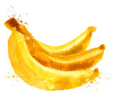 Fototapety bananas vector logo design template. nutrition or food  icon.