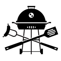 BBQ vector logo design template. Grill or cooking  icon.