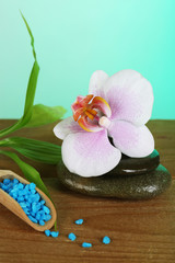 Beautiful spa composition with orchid