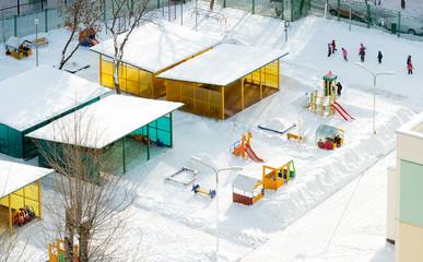 wintry kindergarten
