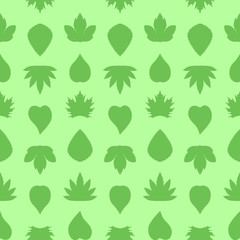 Saemless leaves pattern