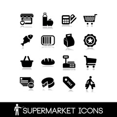 Supermarket icons set1