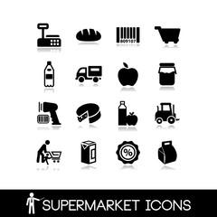 Supermarket icons set4