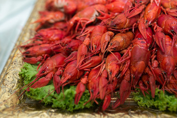 Red cooked crayfish