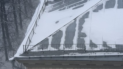 classic roof at winter