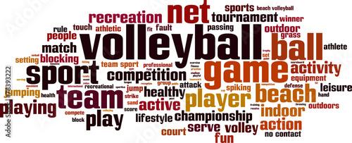 Fototapeta Volleyball word cloud concept. Vector illustration