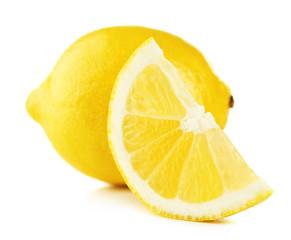 Juicy lemon isolated on white