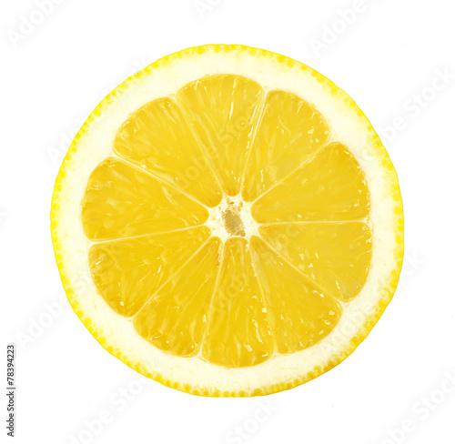 Juicy slice of lemon isolated on white © Africa Studio