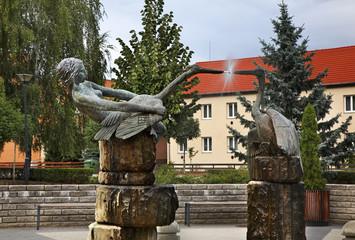 Fountain in Zahony. Hungary