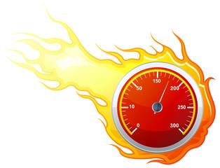 Speedometer Icon - Illustration