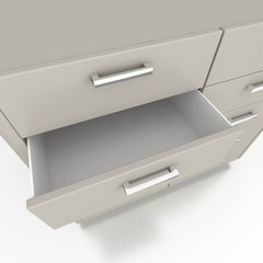 cupboard with opened empty drawer