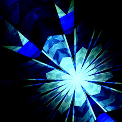 Abstract Futuristic Blue Burst Background - Nuclear Physics -
