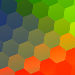 Colorful Abstract Geometric Background with Hexagonal Shapes -