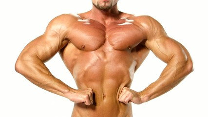 Beautiful and strong young muscular guy