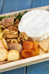 cookies with nuts, dry fruits and cheese