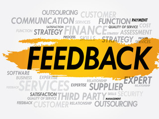 Feedback Word Cloud, business concept background
