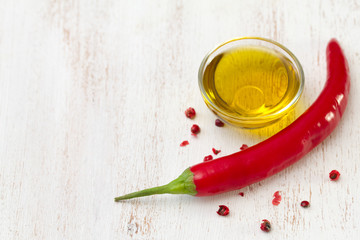 pepper with oil