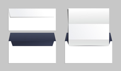 Envelopes set of corporate identity templates. Business office