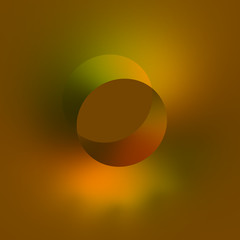 Flat 3d Isometric Hole - Abstract Orange Background - Modern