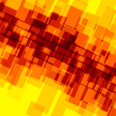 Abstract Background for Design Artworks - Orange Yellow Mosaic -