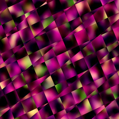 Abstract Purple Square Mosaic Background - Geometric Patterns