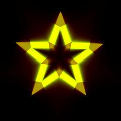 Abstract Black Background with Light Star Shape - Dark Digital