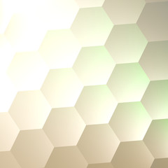 White Hexagon Wall Background - Simple Blank Copy Space - Lots