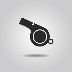 Abstract blowing whistle icon