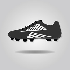 Abstract soccer shoe icon
