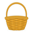 Basket hand made authentic object. - 78397621