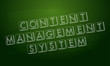 content management system over green blackboard